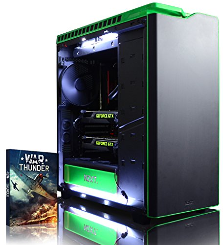 VIBOX Legend 36 PC Gaming Computer con Voucher di Gioco, Windows 10 OS (4,5GHz Intel i9 10-Core, 2x Dual SLI Nvidia GeForce GTX 1080 Ti Schede Grafiche, 32GB DDR4 RAM, 500GB SSD, 3TB HDD)