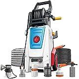 MARHD Lavadora A Presión Eléctrica Lavadora A Presión para Automóvil, Autocebante De Doble Propósito, Presión Máxima De 170 Bar, Caudal Máximo De 10,5 L/M, Adecuada para Lavado De Automóviles, Jardí