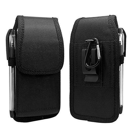 Teléfono clips de cinturón Funda de teléfono de nylon para iPhone Mini (5.4), SE2020,8,76,6s, para Samsung S6 / S5 / J5-2017 / J3 J3Pro Cinturón de cinturón de la bolsa de la bolsa de la bolsa de la b