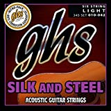 GHS Strings 345 Silk And Steel, Silver-Plated Copper Acoustic Guitar Strings, Light (.010-...