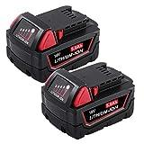 Hochstern 5.0Ah 18V M-18 Batería de Repuesto para Milwaukee 48-11-1850 48-11-1862 48-11-1840 48-11-1828 48-11-1815 M18B (2 paquete de paquetes no al por menor)