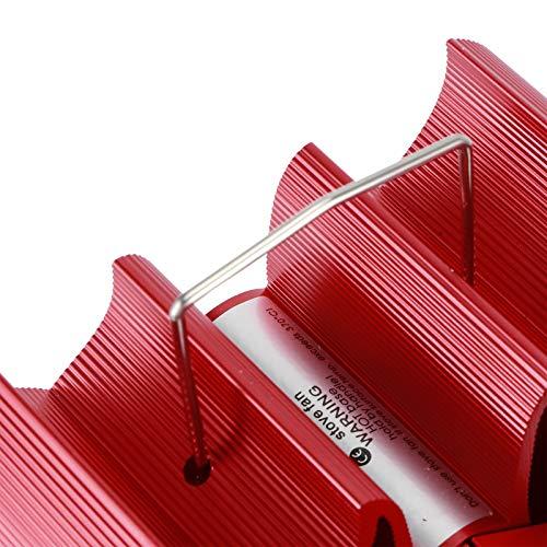 RBSD Ventilador accionado por Calor, Ventilador silencioso de 4 aspas para Estufa, pequeño Ventilador para Estufa de leña