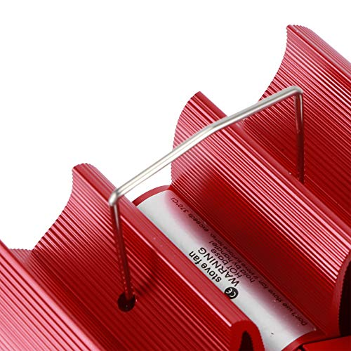 CHICIRIS Wood Burner, Heat Powered Fan, Red Heat‑powered Fireplace Fan No Electricity Kitchen Accessory for Kitchen Hotel