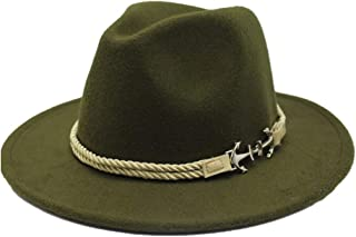 Fashion Sun Hat for Men Women Retro Fedora Hat Wool Felt Braided Rope Pirate Hat Ladies Men's Hat Wide-Brimmed Hat Jazz Church Godfather Wide-Brimmed Hat Suitable for hot Weather Season