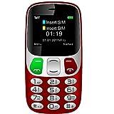 Teléfono Móvil para Personas Mayores con Teclas Extra Grandes Celular con SOS Botones by YINGTAI T47 2G (Rojo)