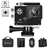Tenswall Touchscreen 4K Action Cam, WiFi Sports Camera 16MP Ultra Full HD Unterwasserkamera EIS...