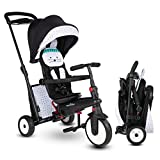 smarTrike STR5 Folding Toddler Tricycle for 1,2,3 Year Old - 7 in 1 Multi-Stage Trike, Bunny