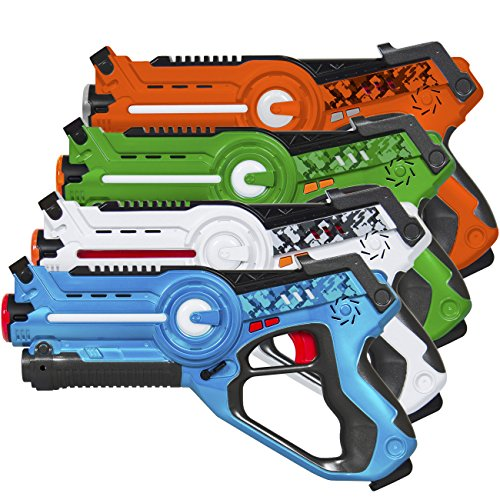 Best Choice Products Infrared Laser Tag Blaster Set for Kids & Adults w/ Multiplayer Mode, 4...