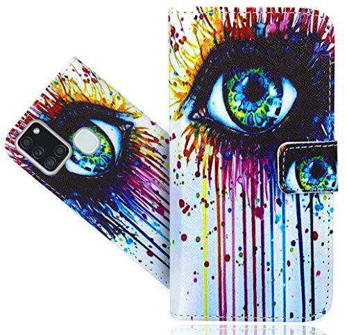 WenTian Samsung Galaxy A21S Handy Tasche, HülleExpert® Wallet Hülle Flip Cover Hüllen Etui Hülle Ledertasche Lederhülle Schutzhülle Für Samsung Galaxy A21S