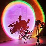 UNILLKING Sunset Lamp, 16 Modes Rainbow Lamp 360 Degree Rota Tion Rainbow Lights with Flexible Tripod Stand, RGB Mood Lighting f or Bedroom Studio Decor Photoshoots