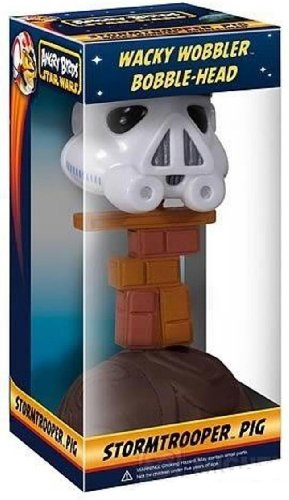 Funko 3000 Star Wars Angry Birds Stormtrooper Piggy Wacky Wobbler