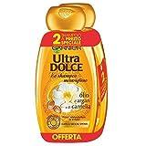 Garnier Ultra Dolce Shampoo Meraviglioso all'Olio d'Argan e di Camelia per Capelli Secchi, senza Parabeni, Estratti Naturali, 2 x 300 ml