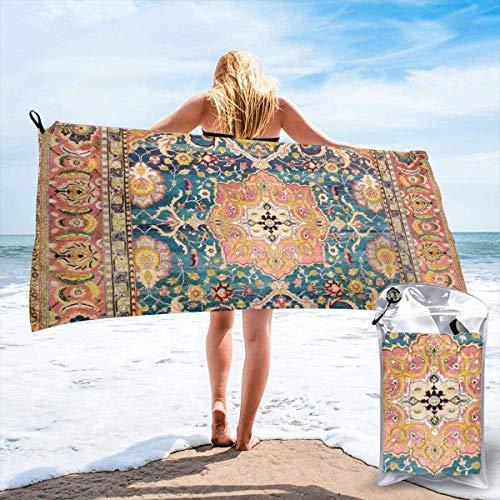 N/A Amritsar Punjab Noord Indiaas Tapijt Print Strand Sneldrogende Handdoek Microvezel Yoga Fitness Absorberende Handdoek Outdoor Klimmen Sneldrogende Handdoek