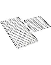 Rostfritt stål bakning vajerställ, utomhus camping multifunktion rostfritt stål grill trådnät grill matta matlagningsgaller