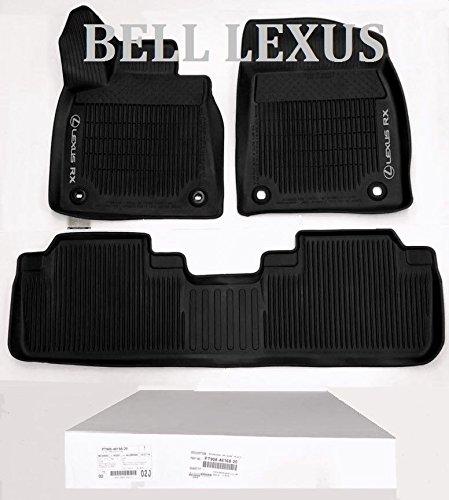 Lexus OEM FACTORY ALL WEATHER FLOOR MAT LINER SET 2016-2018 RX350 & RX450H BLACK