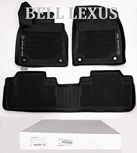 Lexus OEM FACTORY ALL WEATHER FLOOR MAT LINER SET 2016-2018 RX350 & RX450H BLACK