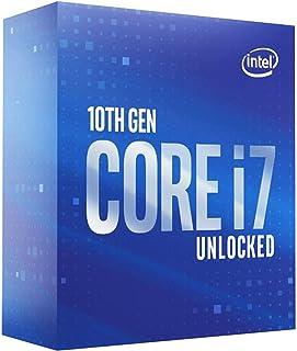 معالج كمبيوتر مكتبي انتل كور i7-10700K، ثماني النواة بتردد يصل حتى 5.1 جيجاهيرتز غير مغلق، LGA1200 ( شريحة تعريف انتل سلسل...