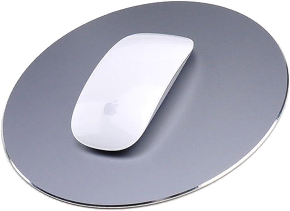 Round Mouse Pad LoiStu Round Aluminum Alloy Mouse Pad