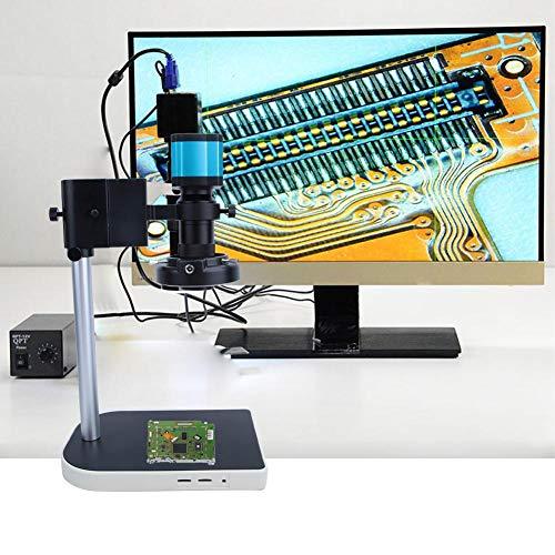 Fotocamera con microscopio a 14 mp, 14 milioni di pixel LED, microscopio industriale HDMI, USB HD, 100 x 1,43 μm x 1,43 μm, C/CS 14 MP sensore CMOS Microscope Camera, molti accessori (EU)
