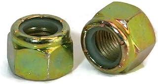 75 Nyloc Grade 8//C Hex Locking Nuts 9//16-18 Yellow Zinc Plated Nylock