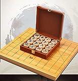 YAMMY Juego de ajedrez Juegos Viajes Adultos niños Tablero ajedrez Chino con Tablero de ajedrez Plegable, Chino Xiangqi, Juegos portátiles de Viaje, láser E