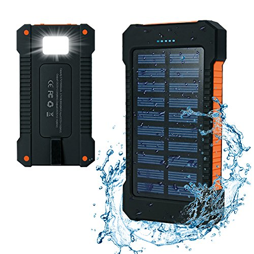 Iyowin Chargeur Solaire 15000mAh, Dual USB...