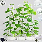 Big Smart Indoor Hydroponics Growing System Dual Power Indoor Garden kit for Big Climbing Vegetables with Built-in Pump and Smart Reminder Plus 60' Climbing Trellis Super hydroponics Growing System