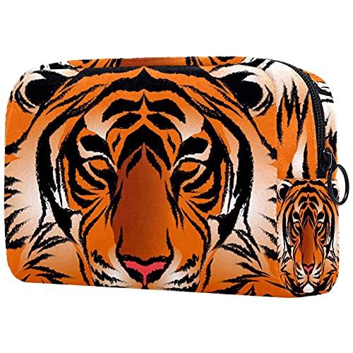 Bengal Tiger Stripe - Bolsa de maquillaje para bolso de viaje, neceser, organizador de cosméticos, portátil, versátil con cremallera, para mujeres y niñas
