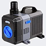 PondH2o 2100 GPH Submersible Pond Pump with Variable Flow Control, Koi Pond Pump for Fish Tanks, Hydroponics, Aquaponics, Fountains, Water Features, Aquariums and Water Garden Ponds
