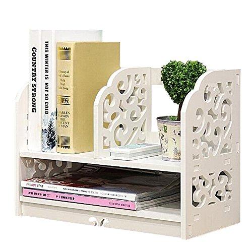 Bibliothèque de bureau en bois à monter soi-même, rangement de petits objets, cosmétiques, vitrine, bibliothèque