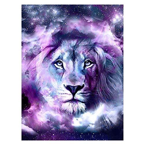 MZA DIY 5d Bricolaje Diamante Pintura Lion Square Completo/D