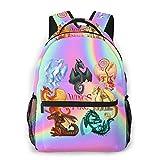 Casual Boys Girls Fire Dragons Wings School Backpacks...