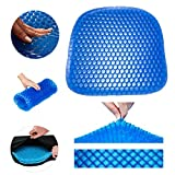 Gel Seat Cushion - Durable, Portable Office Chair Car Seat Cushion Supports Lower