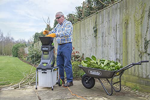 The Handy THISWB Electric Garden Shredder with 40L Collection Box for Woody Prunings and Soft Cuttings 2500W - 2 Year Warranty