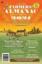 Image: Farmers' Almanac 2021 | Paperback: 200 pages | by Farmers' Almanac (Author). Publisher: Almanac Publishing Company; 204th Edition (August 18, 2020)