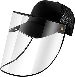 BESPORTBLE Careta de Seguridad M/áscara de Visera Sombrero para El Sol Gorra Protectora de Cara Completa Antivaho Anti-Saliva a Prueba de Viento a Prueba de Polvo