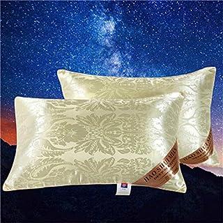 hhxiao Almohada de Seda, 2 Unidades, 48 x 74 cm, para la Familia o el Hotel, Protege el Cuello, rellena Las cómodas Almohadas de Dormir para la Ropa de Cama