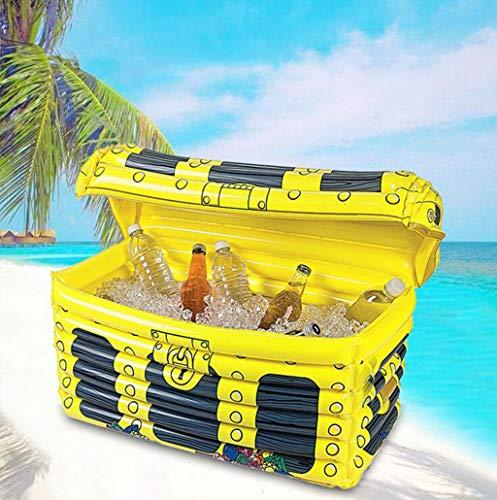 AQWWHY Uppblåsbara lådkylare, uppblåsbara dryckeskylare för fester, hawaiiansk tropisk fest tema dekorationer för sommarstrand, flytande poolkylare uppblåsbar bar barkylare
