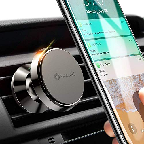 VICSEED Magnetic Car Phone Holder, Metal Mobile Phone Holders for Cars Vent...