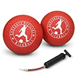 GoSports Official Kickball with Pump (2 Pack), 10', Red