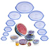 Monix - Tapas de Silicona Reutilizables para Alimentos, Flexibles, Duraderas y Adaptables a Varias Formas, Kit, M329015