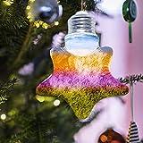 1 conjunto de moldes de resina de bombilla LED artesanal, de resina, moldeo de arte, decoración de bricolaje, con base de chip y tapa de luz para fiestas, bodas, regalos de cumpleaños