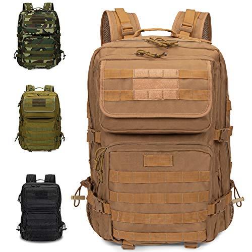 Armybag® | Wasserdichter Outdoor Rucksack Beige - 45-47 Liter Volumen - Militär Rucksäcke - Reise & Wanderrucksack - Rucksack Herren & Damen groß