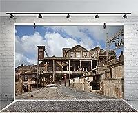 leyiyi 6x 4ft Photography Backgroud Derelict Coal Mining BackdropイタリアAbandoned Mine Tower Sardinia Landscapeビンテージグランジ木製Building Dirty Town StreetフォトPortraitビニールStudioビデオProp