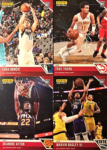 2018-19 Panini Instant ALL-ROOKIE TEAM Complete Set - Rookie Basketball Cards of Luka Doncic, Trae Young, Deandre Ayton, Marvin Bagley & the Complete 10-Card All-Rookie First and Second Team Set!