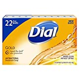 Dial Antibacterial Deodorant Bar Soap, Gold - 4 Oz, 22Count
