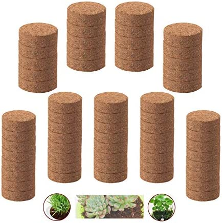 Iceyyyy 60pcs 40mm Compressed Coco Coir Fiber Potting Soil Expanding Organic Coco Coir Pellet product image