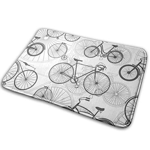 Boweike Bath Mat Bicycle Bike Carpet Non Slip Entrance Doormat for Indoor/Outdoor/Frontdoor/Bedroom/Livingroom/Kitchen 15.7 X 23.5