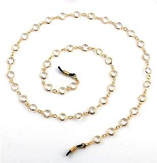 Askana Handmade Glass Beaded Eyeglass Holder Chain Lanyard