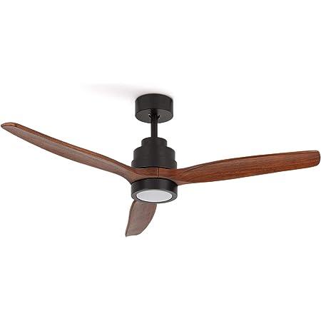 CREATE IKOHS WINDSTYLANCE DC BLACK - Ventilateur de plafond 40 W DC Reverse avec lumière (avec lumière – Bois foncé)